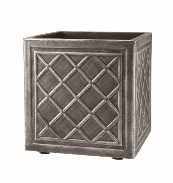 Picture of 38cm Sq. Lead Lead Effect Planter Pew