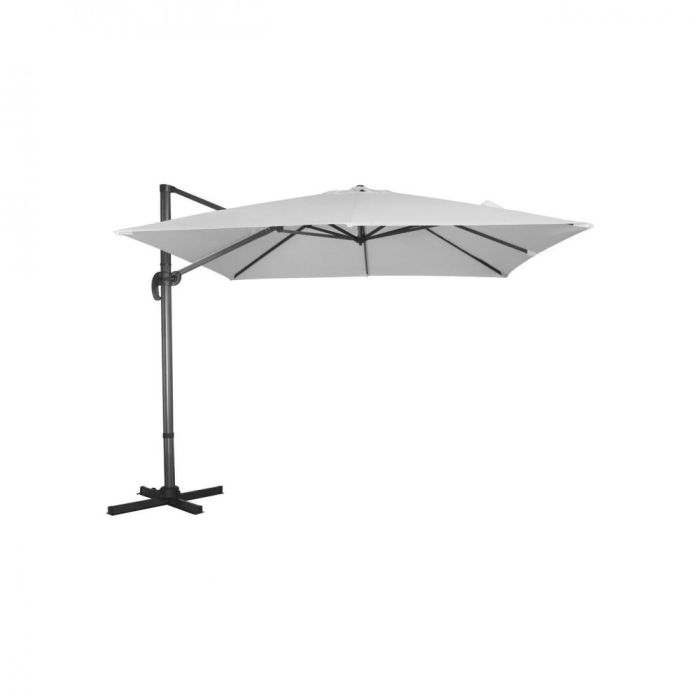Picture of Royce Executive Cantilever Parasol Soft Grey - 3m