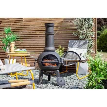 Picture of Sierra Extra Large Cast Iron Ciminea with Grill