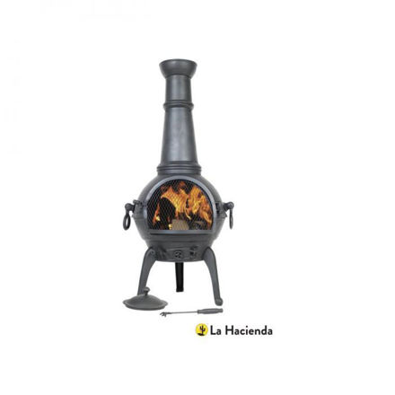 Picture of Sierra Large Cast Iron Chimenea With Grill