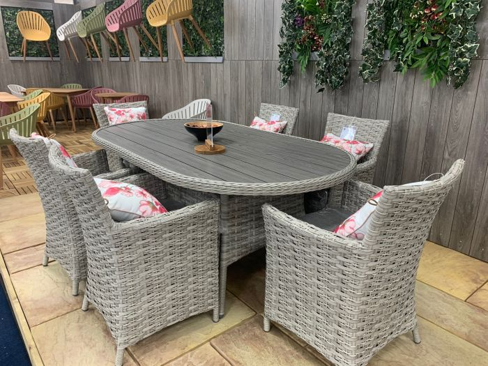 Picture of Samoa 6 Seater 202x108cm Oval Dining Set
