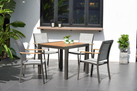 Picture of Salomon 4 Seater Square Dining Set 88cm Table