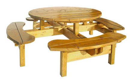 Picture of Woodford Round Picnic Table 8 Persons 35mm