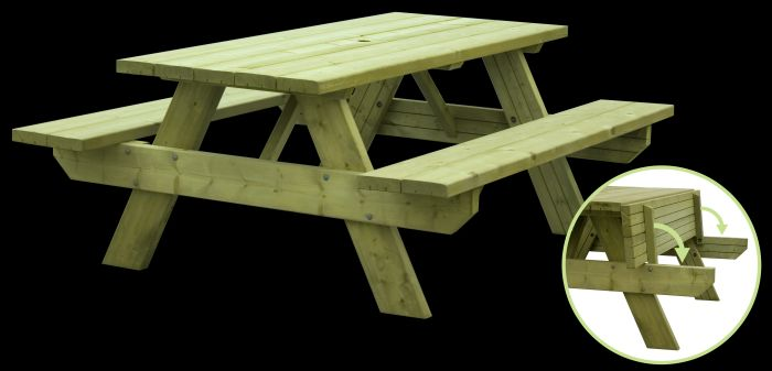 Picture of Woodford Oblong Picnic Table 6 Persons 44mm