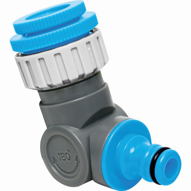 Picture of AquaCraft Angled Adjustable Threaded Tap Connector