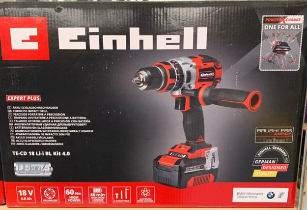 Picture of Einhell 18v Cordless Drill Set 4Ah