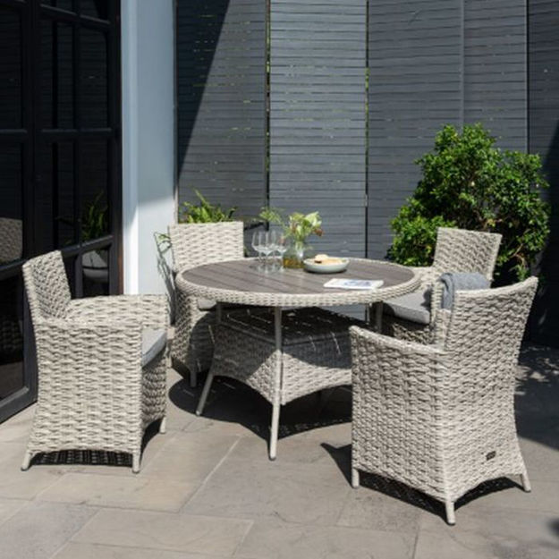 Picture of Samoa Round Dining Set 4 Seater