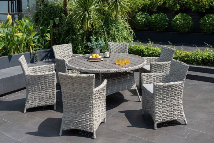 Picture of Samoa Round Dining Set 6 Seater