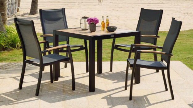 Picture of Panama 4 Seater Weathernet 88cm Square Dining Set
