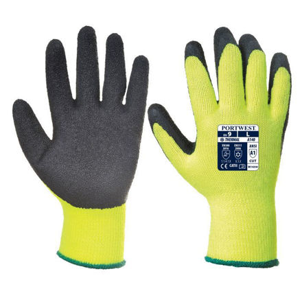 Picture of A140bkr Prs Thermal Grip Glove Yellow
