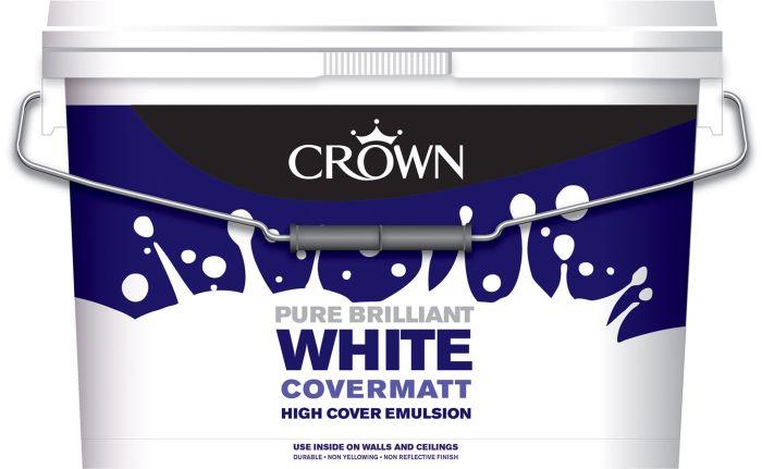 Picture of 10LTR CROWN COVERMATT BRILLIANT WHITE PAINT