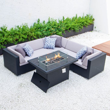 Picture of 5 SEATER CORNER DINING SET WITH FIREPIT