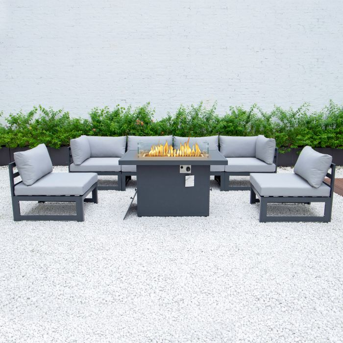 Picture of 6 Seater Modular Dining And Firepit Set