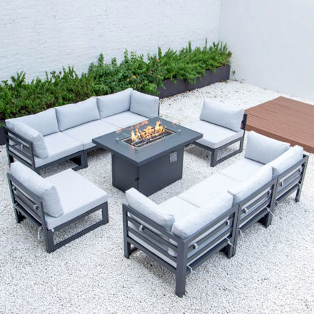 Picture of 8 SEATER MODULAR SOFA AND FIREPIT SET