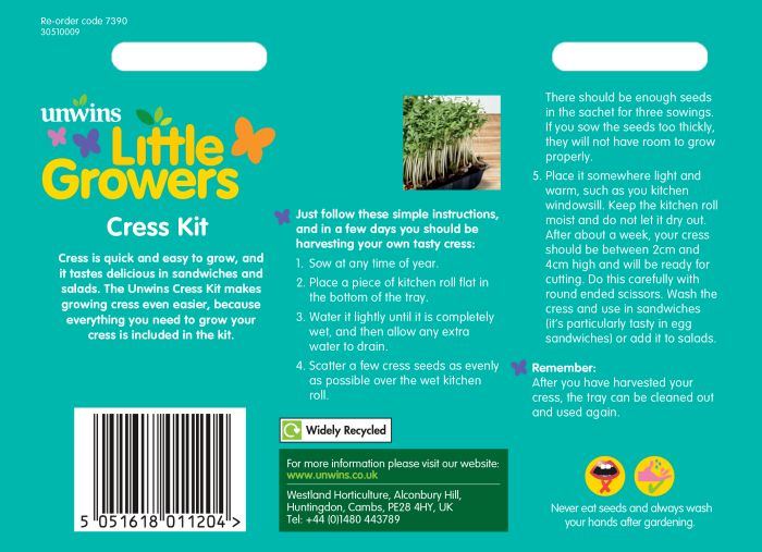 Picture of Unwins Little Growers Cress Kit