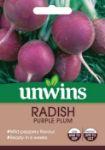 Picture of Unwins Radish Globe Purple Plum