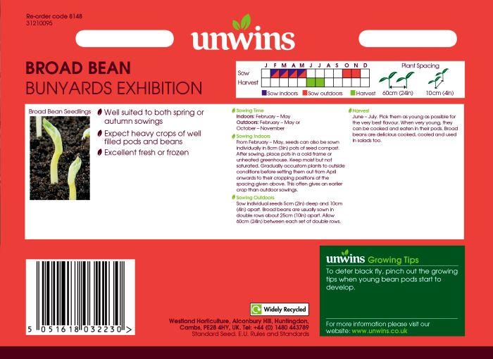 Picture of Unwins Broad Bean Bunyards Exhibition