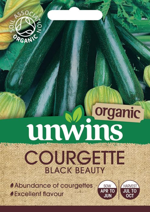 Picture of Unwins Courgette Black Beauty Organic
