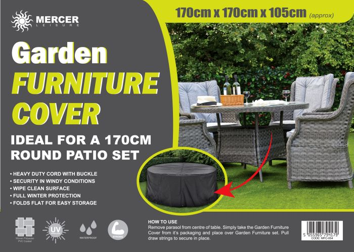 Picture of Garden Furniture Cover Round Set 170cm Diameter