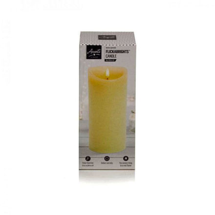 Picture of Accents by Premier Flickabright Candle Cream - 23cm x 9cm