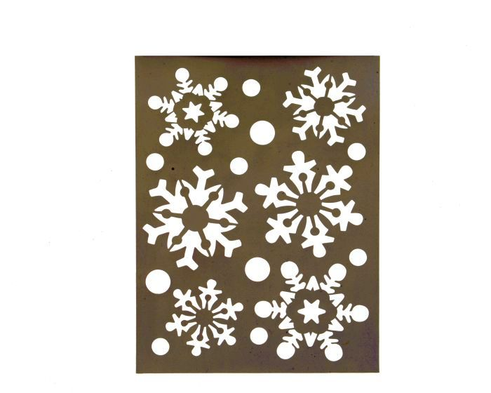 Picture of Stencil Removable Snowflake 21x30cm