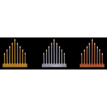 Picture of 9 Light Flickabright Candle Bridge Tower - 3 Asst