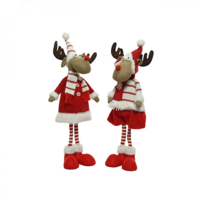 Picture of Plush Standing Reindeer with Hat & Scarf 2 Assorted - 69cm