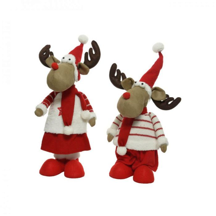 Picture of Plush Standing Deer with Hat & Scarf 2 Assorted - 150cm