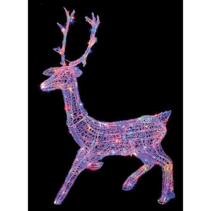 Picture of LED Multi-Action Soft Acrylic Stag Multi-Coloured - 1.4m