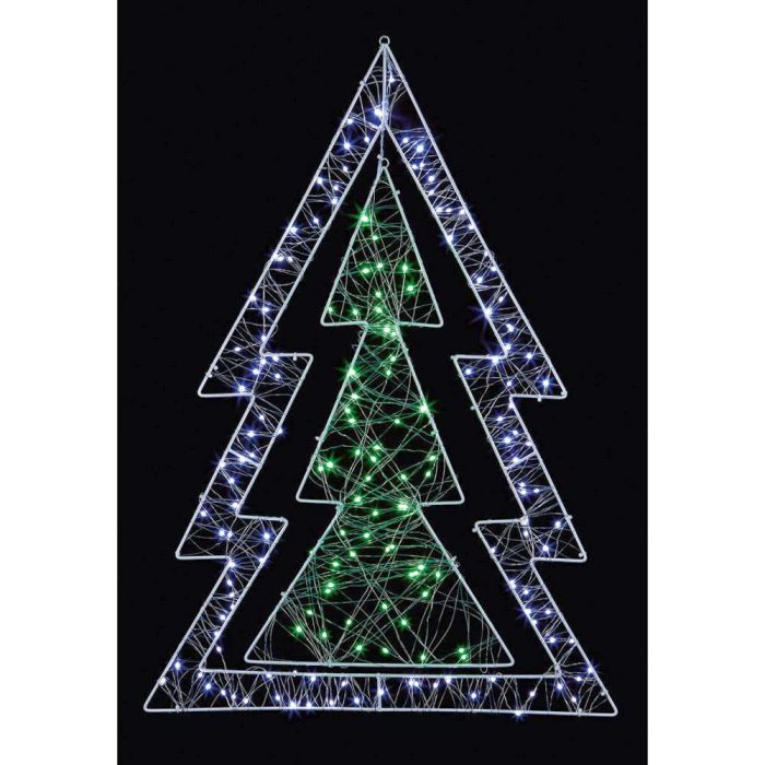 Picture of LED Pin Wire Xmas  Double Tree - 80cm
