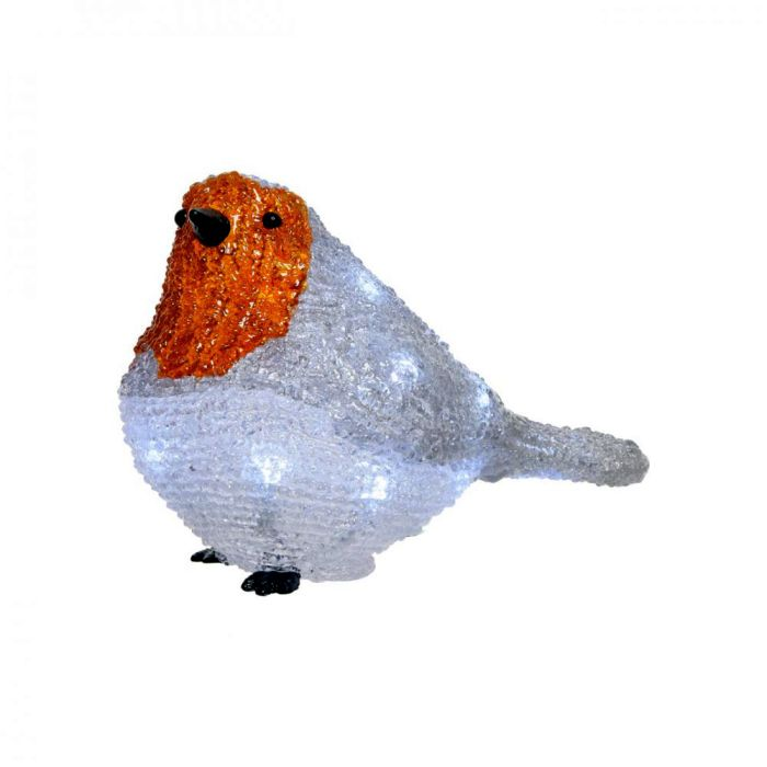Picture of LED Acylic Robin - 14cm