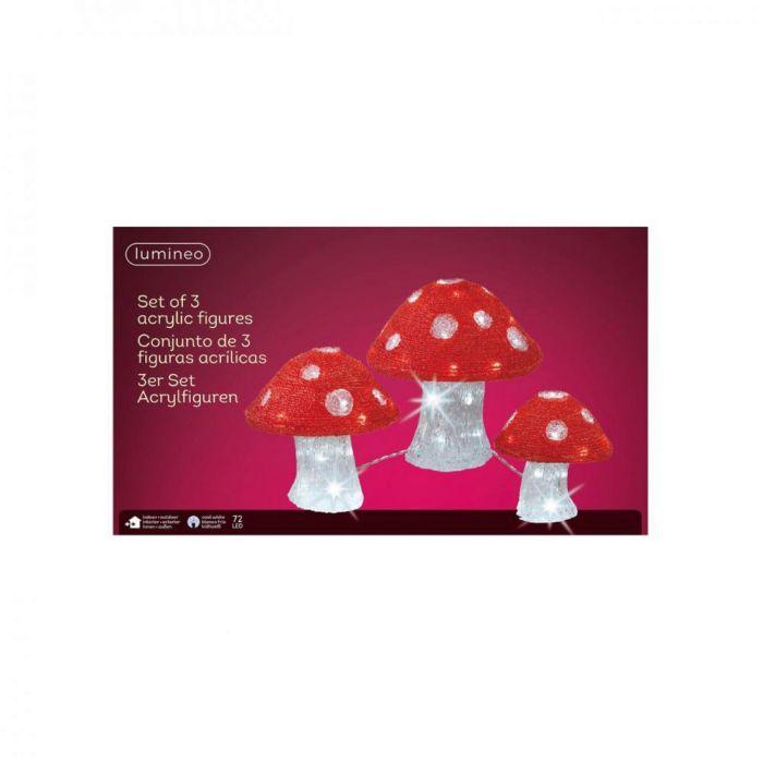 Picture of LED Acrylic Mushroom Lights - Set of 3