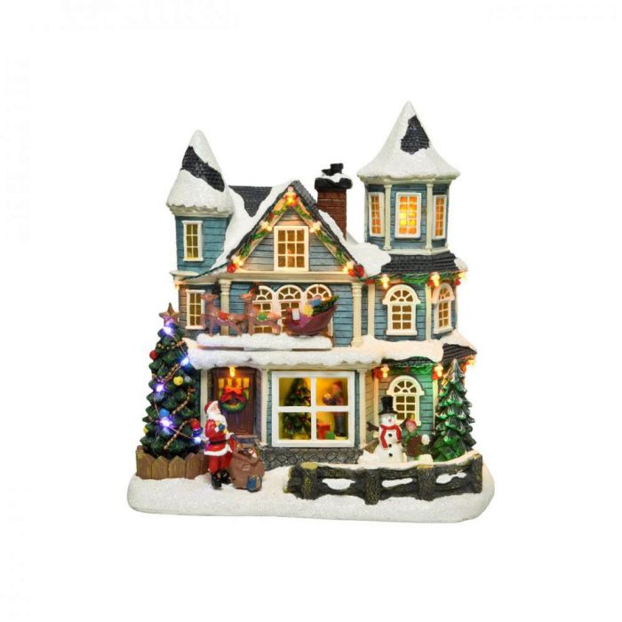 Picture of LED Musical Winter House Scene - 29.5cm
