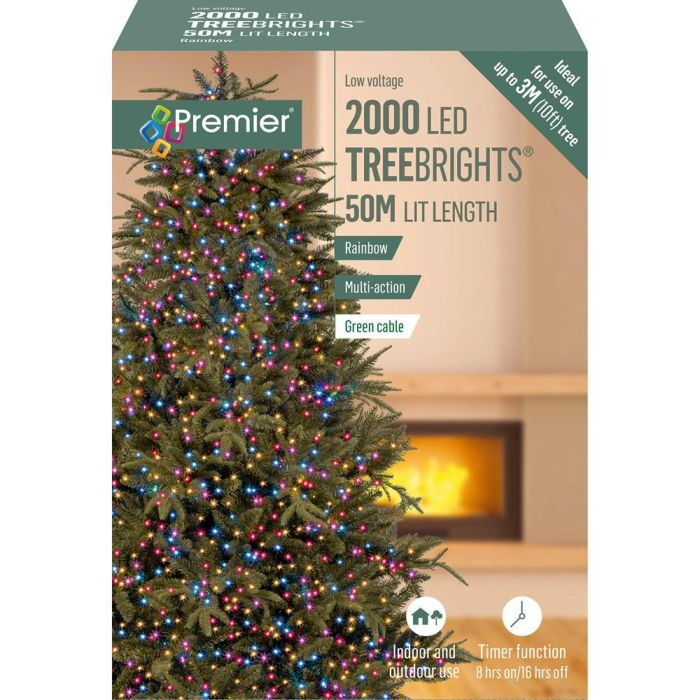 Picture of 2000 LED Multi-Action Treebrights - Rainbow