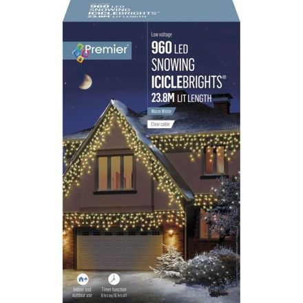 Picture of 960 LED Multi-Action Snowing Iciclebrights - Warm White