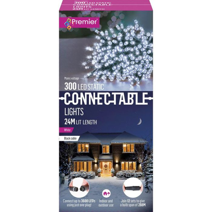 Picture of 300 LED Static Connectable Lights - White