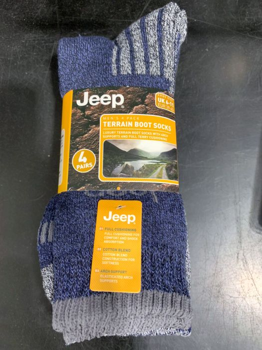 Picture of Mens 4 Pack Jeep Boot Sock - Buy 1 Get 1 Free