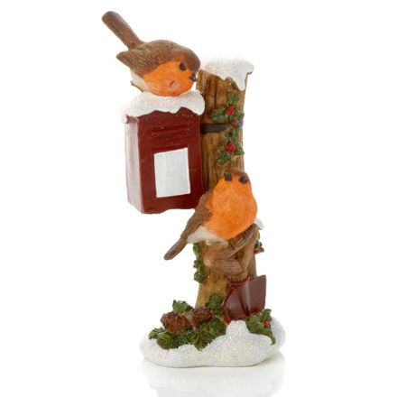 Picture of 18cm Robins On Post Box Ornament